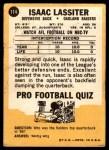 1967 Topps #114  Ike Lassiter  Back Thumbnail
