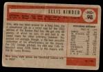 1954 Bowman #98  Ellis Kinder  Back Thumbnail