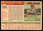 1955 Topps #115  Ellis Kinder  Back Thumbnail