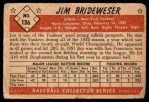 1953 Bowman #136  Jim Brideweser  Back Thumbnail