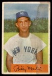 1954 Bowman #145 ALL Billy Martin  Front Thumbnail