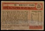 1954 Bowman #177  Whitey Ford  Back Thumbnail