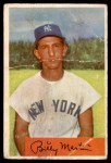 1954 Bowman #145 2B Billy Martin  Front Thumbnail