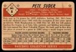 1953 Bowman B&W #8  Pete Suder  Back Thumbnail