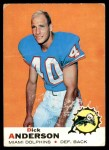 1969 Topps #59  Dick Anderson  Front Thumbnail