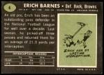 1969 Topps #4  Erich Barnes  Back Thumbnail