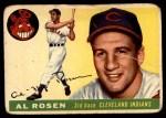 1955 Topps #70  Al Rosen  Front Thumbnail