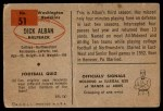 1954 Bowman #51  Dick Alban  Back Thumbnail
