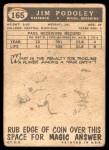1959 Topps #165  Jim Podoley  Back Thumbnail