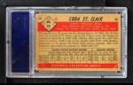 1953 Bowman B&W #34  Ebba St. Claire  Back Thumbnail
