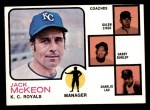 1973 Topps #593   -  Jack McKeon / Galen Cis/ Harry Dunlop / Charlie Lau Royals Leaders Front Thumbnail