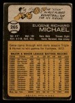 1973 Topps #265  Gene Michael  Back Thumbnail