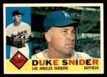 1960 Topps #493  Duke Snider  Front Thumbnail