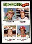 1977 Topps #475   -  Scott McGregor / Manny Sarmiento / Rick Camp / Chris Batton  Rookie Pitchers   Front Thumbnail