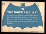 1966 Topps Batman Blue Bat Back #1 BLU  The Joker's Icy Jest Back Thumbnail