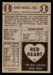 1954 Red Heart  Gus Bell  Back Thumbnail