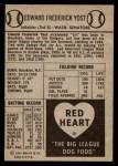 1954 Red Heart  Eddie Yost    Back Thumbnail