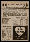 1954 Red Heart  Roy McMillan     Back Thumbnail