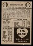 1954 Red Heart  Al Dark  Back Thumbnail