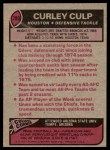 1977 Topps #280  Curley Culp  Back Thumbnail