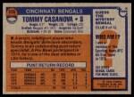 1976 Topps #235  Tommy Casanova  Back Thumbnail