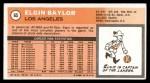 1970 Topps #65  Elgin Baylor   Back Thumbnail
