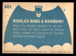 1966 Topps Batman Blue Bat Back #44 BLU  Riddler Robs Rainbow! Back Thumbnail