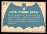 1966 Topps Batman Blue Bat Back #17 BLU  Prehistoric Peril Back Thumbnail