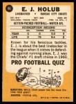 1967 Topps #66  E.J. Holub  Back Thumbnail