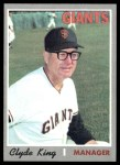 1970 Topps #624  Clyde King  Front Thumbnail