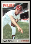 1970 Topps #605  Rick Wise  Front Thumbnail