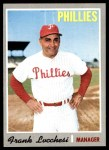 1970 Topps #662  Frank Lucchesi  Front Thumbnail