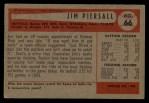 1954 Bowman #66 ^JIM^ Jimmy Piersall  Back Thumbnail