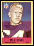 1967 Philadelphia #105  Milt Sunde  Front Thumbnail
