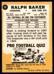 1967 Topps #90  Ralph Baker  Back Thumbnail