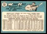 1965 Topps #336  Woodie Held  Back Thumbnail