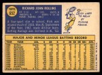 1970 Topps #652  Rich Rollins  Back Thumbnail