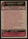 1977 Topps #40  Tommy Hart  Back Thumbnail