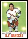 1970 Topps #59  Tim Horton  Front Thumbnail