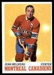 1970 Topps #55  Jean Beliveau  Front Thumbnail