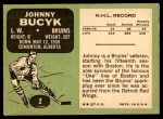 1970 Topps #2  Johnny Bucyk  Back Thumbnail