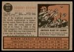 1962 Topps #377  John Orsino  Back Thumbnail