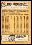 1968 Topps #242  Moe Drabowsky  Back Thumbnail