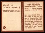 1967 Philadelphia #128  John Morrow  Back Thumbnail