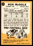 1967 Topps #25  Ron McDole  Back Thumbnail