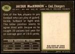 1969 Topps #202  Jacque MacKinnon  Back Thumbnail