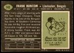 1969 Topps #143  Frank Buncom  Back Thumbnail