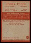 1965 Philadelphia #55  Jerry Tubbs   Back Thumbnail