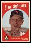 1959 Topps #386  Jim Delsing  Front Thumbnail