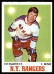 1970 Topps #62  Vic Hadfield  Front Thumbnail